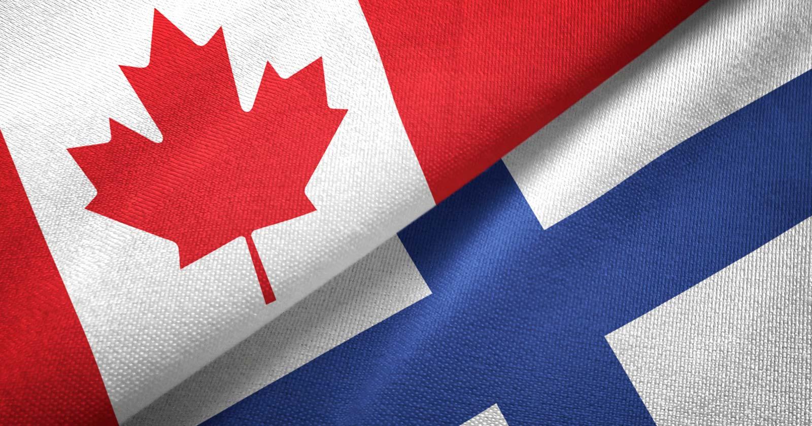 Kanadan Ja Suomen Lippu